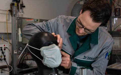 DEKRA protective mask tests