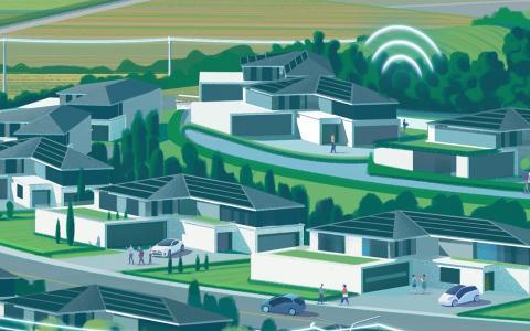Illustration smart houses